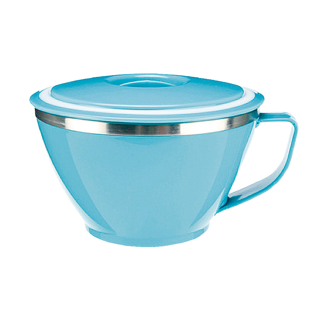 BUFFALO PLASTIC ISOLATED CUP S/S BOWL, BLUE