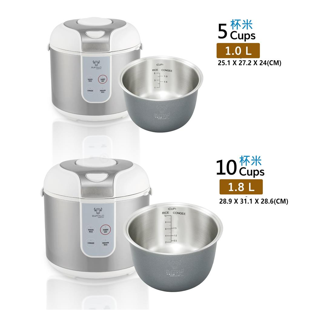 BUFFALO CLASSIC RICE COOKER 1.0L (5 CUP)