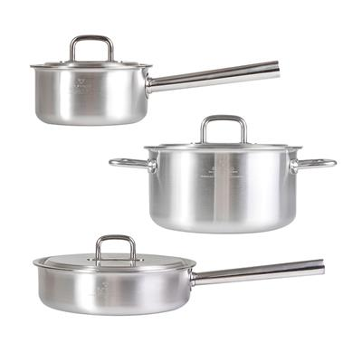 BUFFALO SIMPLEX SERIES S/S 6PCS POT SET