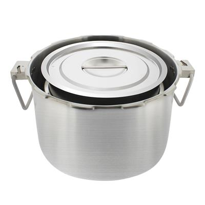 BUFFALO QCP435 STEAM POT W/LID SET OF 4