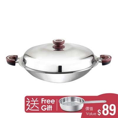 BUFFALO FUNCTION SERIES S/S FLAT WOK 35CM